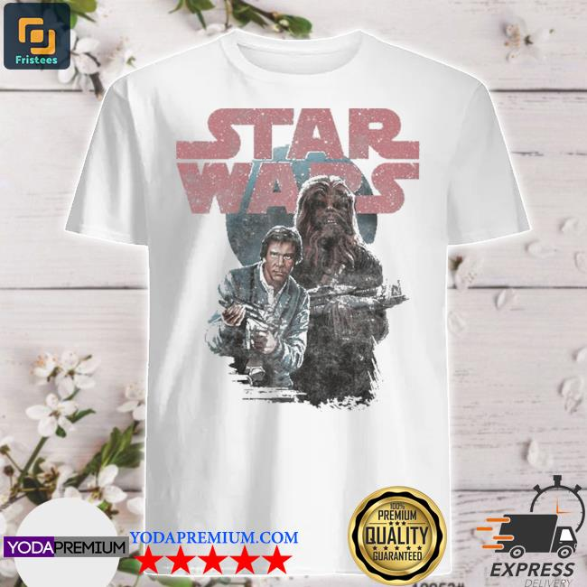 Star wars han and chewie vintage poster shirt